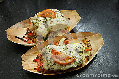 Fish fillet with tomato