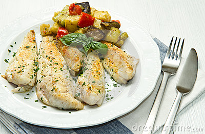 Fish fillet with vegetables