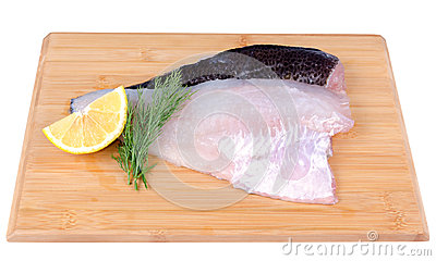 Fish fillets on a board
