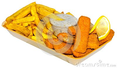 Fish Fingers Menu Stock Photos - Image: 15167723