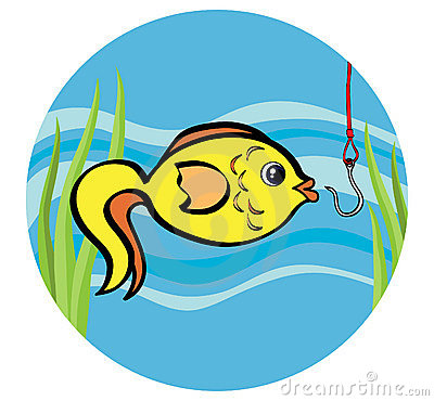 Fish on a hook
