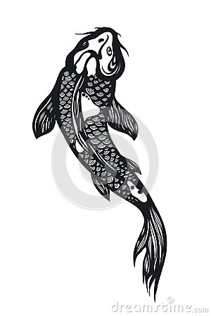 Free Fish Koi Carp. Chinese Symbol Of Good Luck, Courage, Persistence, Perseverance, Wisdom And Vitality. Royalty Free Stock Photos - 104420188