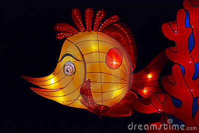 Fish lantern in the gardens