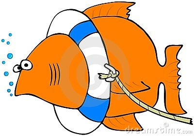 Fish With A Life Preserver