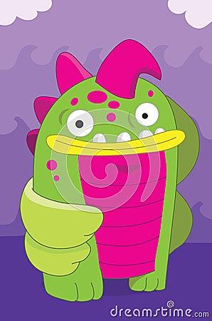 Fish looking alien monster cartoon