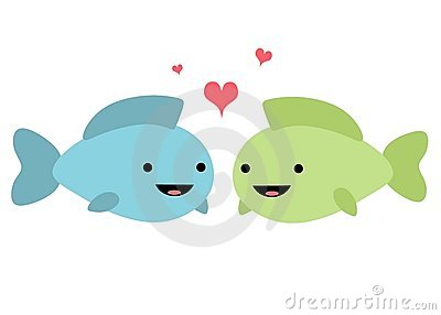 Fish in Love Illustration