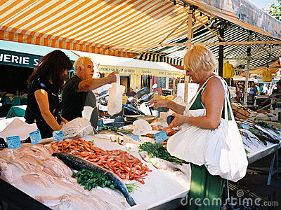 Fish marcet in Nice(France) Editorial Photography