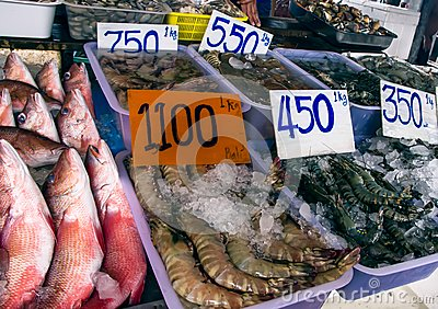 Fish market Editorial Stock Photo