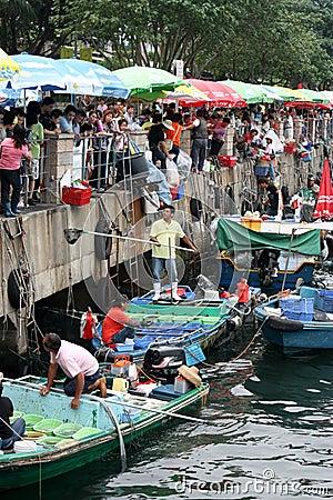 Fish Market in Hong Kong` Editorial Photo