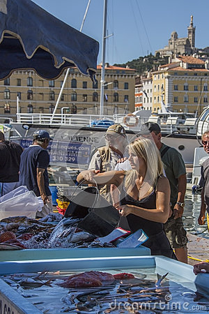 Fish Market - Marseille - South of France Editorial Image