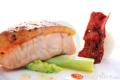 Fish meat smoked salmon fish