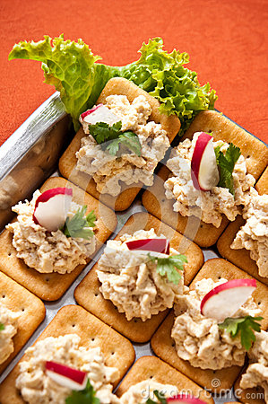 Fish pate crackers