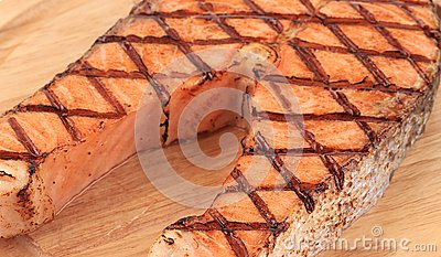 Fish perch on wooden board