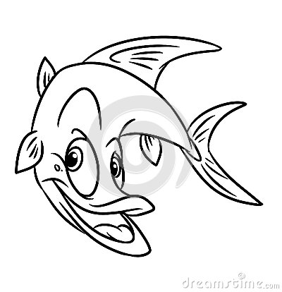 Fish predatory  coloring pages
