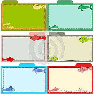Fish recipe cards