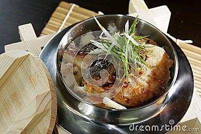 Fish on rice