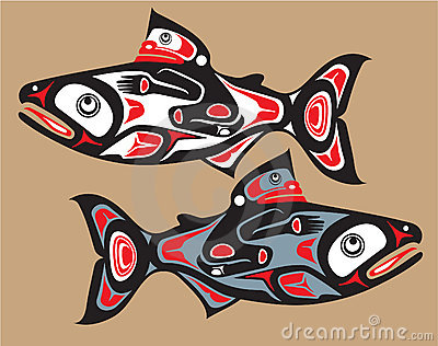 Fish - Salmon - Native American Style