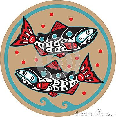 Fish - Salmon - Native American Style