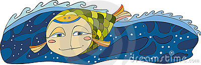 Fish Sea Isplated