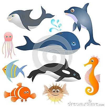 Free Fish Set Stock Images - 36990004