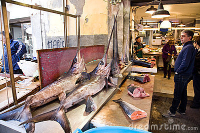 Fish shop, Sicily Editorial Photography