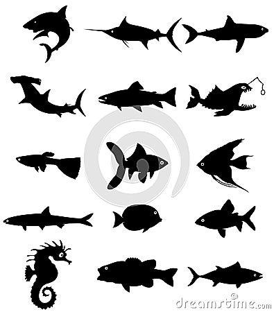 Free Fish Silhouette Royalty Free Stock Photos - 6022528