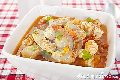 Fish Soup Prawns Scallops