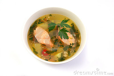 Fish Soup With Salmon Royalty Free Stock Image - Image: 18259786