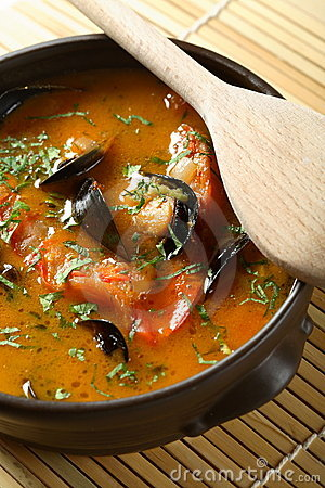 Fish soup with seafood
