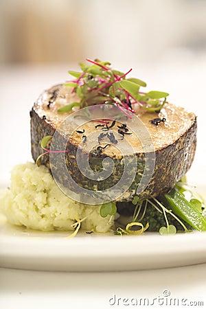 A fish steak for dinner