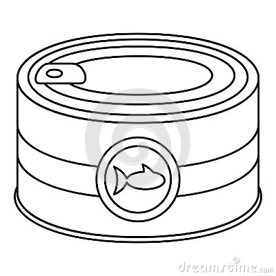 Free Fish Tin Can Icon, Outline Style Royalty Free Stock Photography - 121676667