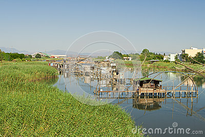 Fish trap in Ada Bojana