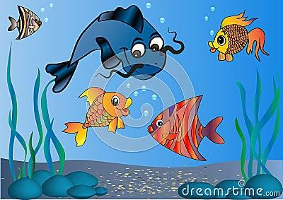 Fish in undersea world