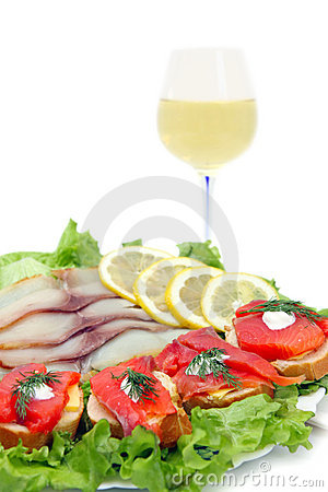 Fish and white wine