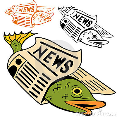Fish Wrapped In Newspaper Stock Images - Image: 12764934
