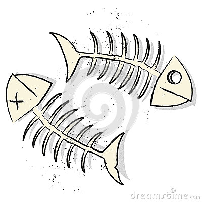Fishbones vector
