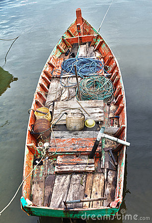 Fisher boat in Ham Ninh