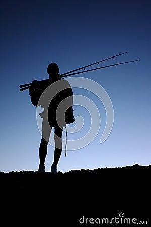 Fisherman or Angler Silhouette