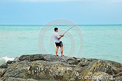 Fisherman ashore
