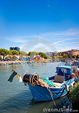 Fisherman boat in Italy