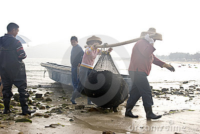 Fisherman in China Editorial Photo