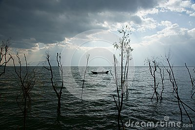 A fisherman on Lake