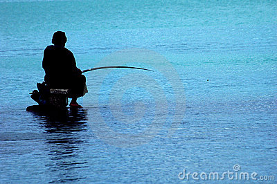 Fisherman at Mauritius