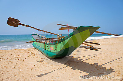 Fisherman s boat on the shore