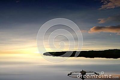 Fisherman's boat at sunset