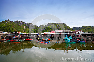 Fisherman s village in Thailand