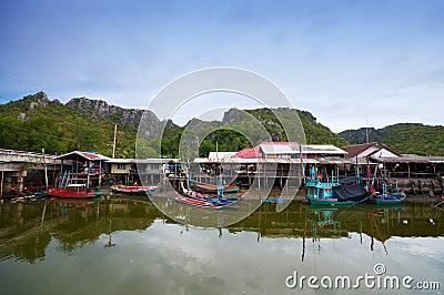 Fisherman s village in Thailand