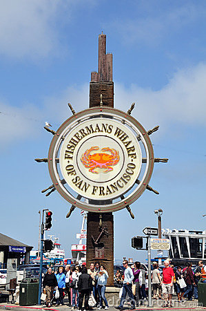 Fisherman s Wharf Editorial Stock Photo