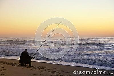 Fisherman seated