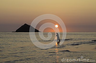 Fisherman at sunrise